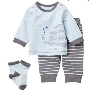 3/$25 Little Me Elephant Outfit Set